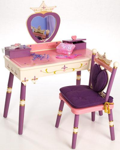 Pink Hearts Children's Vanity Table