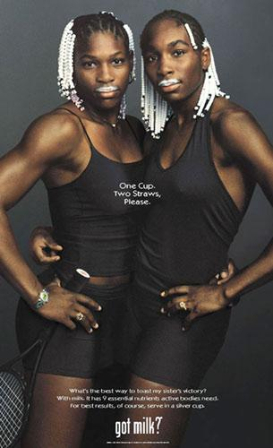 Williams Sisters Got Milk