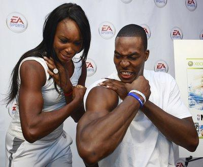 Venus Williams and Dwight Howard