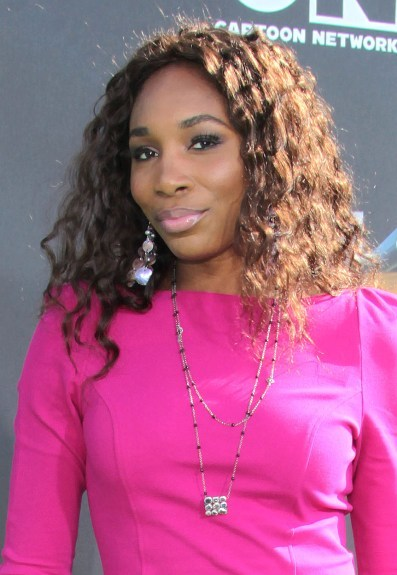 Venus Williams' dazzling, curly hairstyle