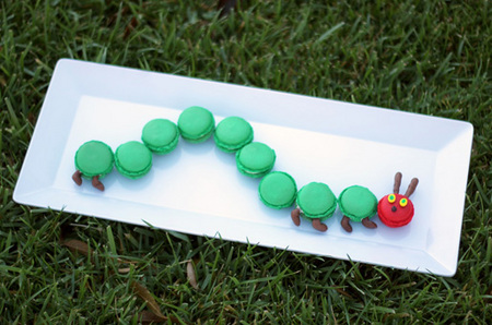 Very hungry caterpillar macarons