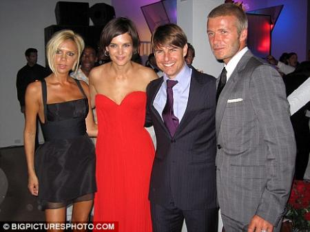 Victoria and David Beckham party with celebrity pals Katie Holmes in Los Angeles