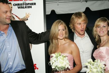 Vince Vaughn and Owen Wilson at New York Wedding Crashers premiere
