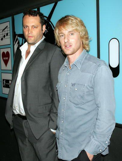 Vince Vaughn and Owen Wilson at press events