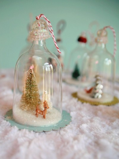 DIY vintage-inspired bell ornaments
