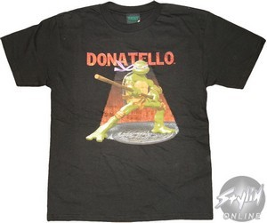 Teenage Mutant Ninja Turtle Donatello vintage print t-shirt