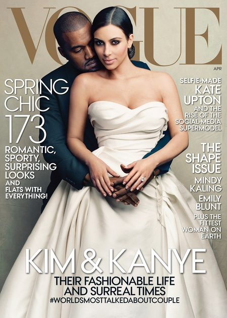 Kimye on the cover of Vogue