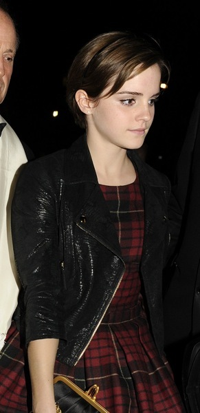 Emma Watson in plaid