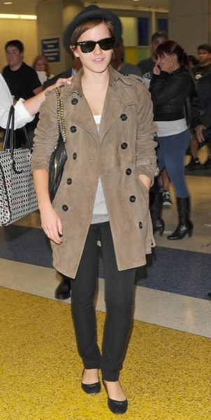 Emma Watson's airport style
