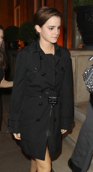 Emma Watson in a trench coat