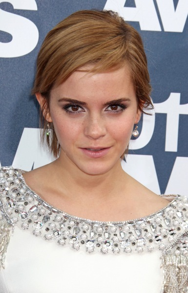Emma Watson in an embellished dress