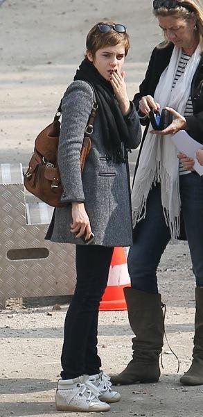 Emma Watson in sneakers