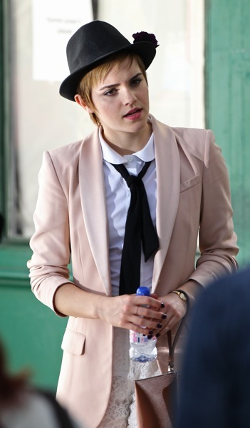 Emma Watson with a tie
