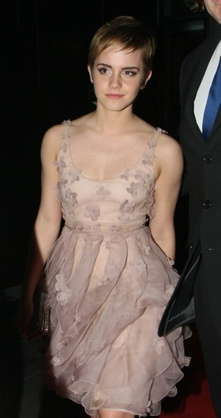 Emma Watson in flowing fabric