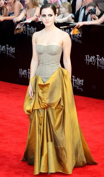 Emma Watson in an evening gown