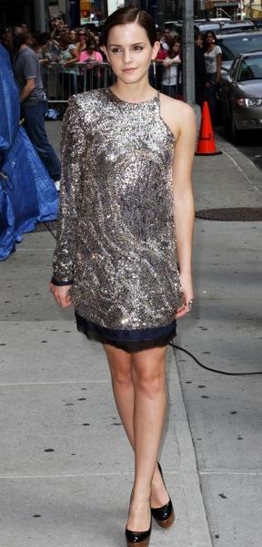 Emma Watson's asymmetrical dress