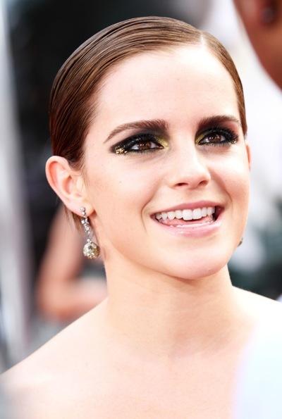 Emma Watson's sleek hairstyle
