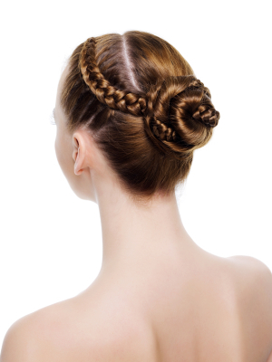 Wedding hair - Braided bun