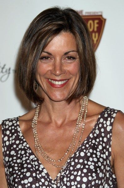 Wendie Malick's classic, bob hairstyle
