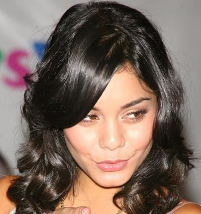 Vanessa Hudgens in short curls