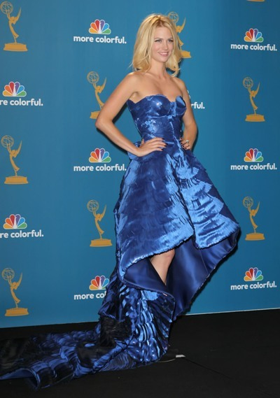 January Jones is a beautiful blonde in blue