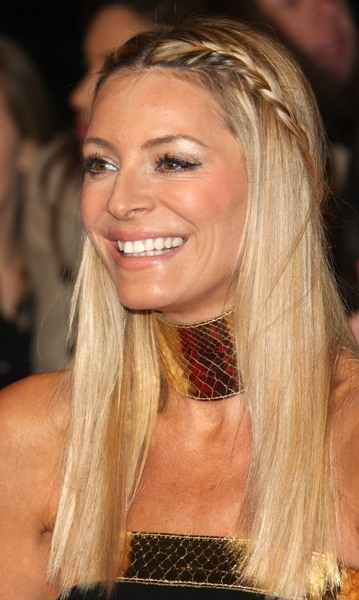 Tess Daly with straight hair & braid