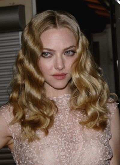 Amanda Seyfried with curly golden locks