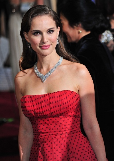 Natalie Portman arrives at The Academy Awards