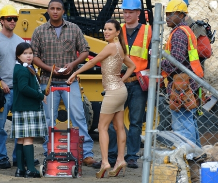 Eva Longoria is hard at work