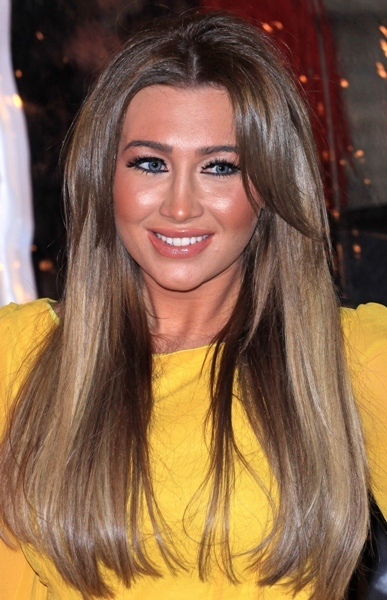 Lauren Goodger with straight hair & curled bangs