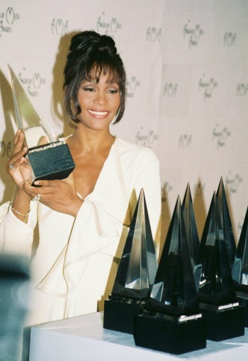 Whitney Houston at the 21st Annual American Music Awards