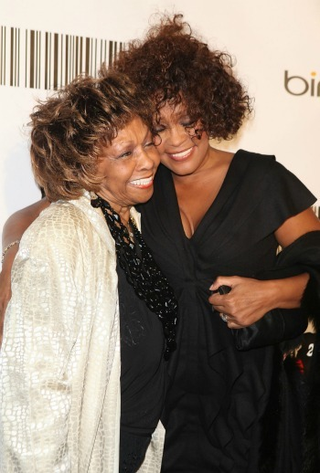 Whitney Houston with her mother Cissy Houston