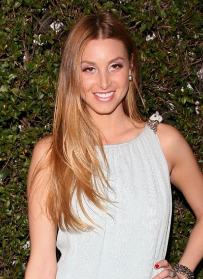 Whitney Port's long, blonde hairstyle