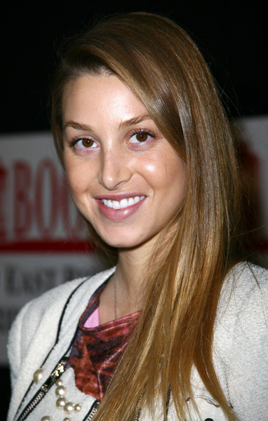 Whitney Port's sleek, long hairstyle