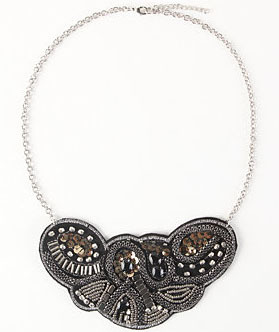 With Love From CA Heavy Metal Bib Necklace