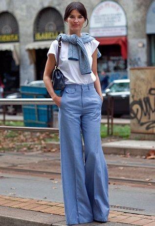 High-Waisted Wide-Leg Pants
