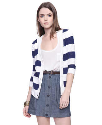 Forever 21 Wide Stripe Cardigan