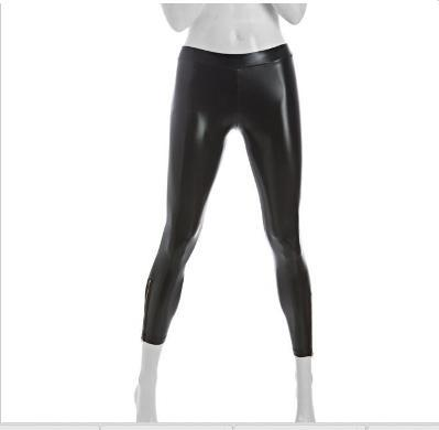 Zipper Latex Leggings