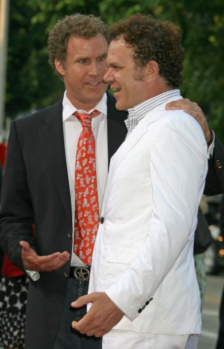 Will Ferrell and John C. Reilly at the Step Brothers premiere in Los Angeles