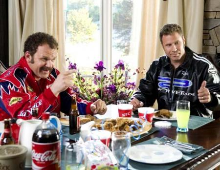 Will Ferrell and John C. Reilly in the film, Talladega Nights: The Ballad of Ricky Bobby