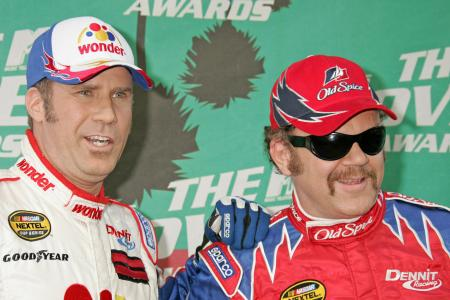 Will Ferrell and John C. Reilly, who starred in the movie Talladega Nights: The Ballad of Ricky Bobby, wore their racing