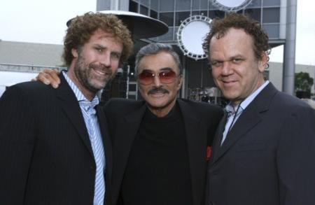 Will Ferrell and John C. Reilly along with actor Burt Reynolds