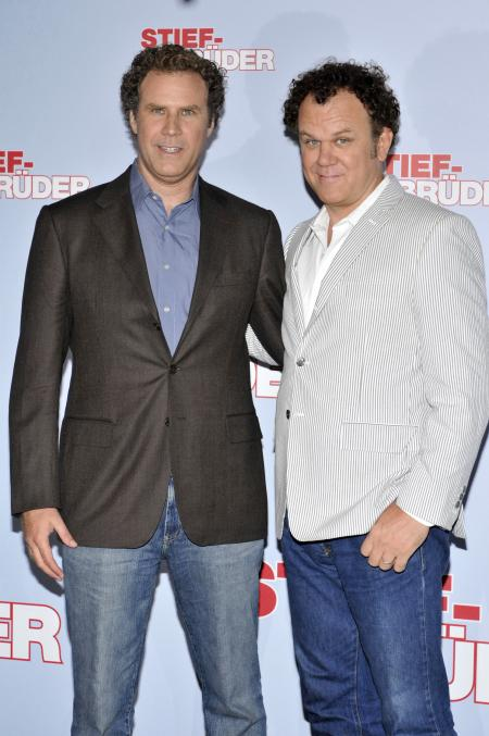 Will Ferrell and John C. Reilly at the German premiere of Step Brothers