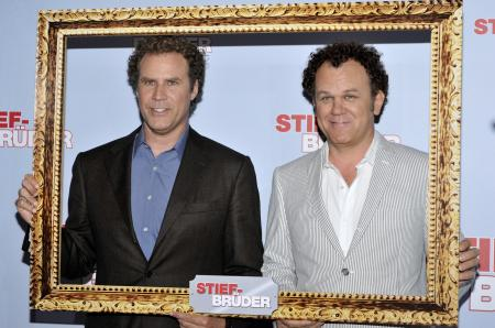 Will Ferrell and John C. Reilly at the German movie premiere of Step Brothers