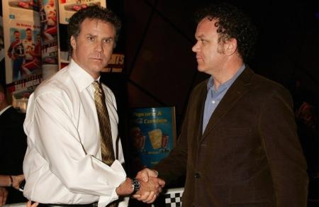 Will Ferrell shakes hands with John C. Reilly