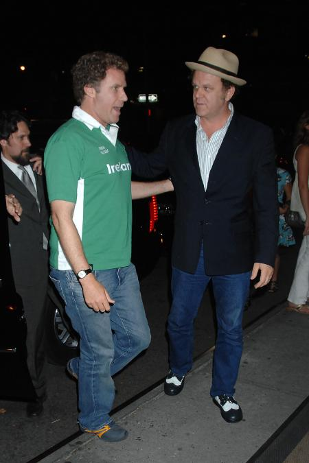 Will Ferrell talks to co-star John C. Reilly