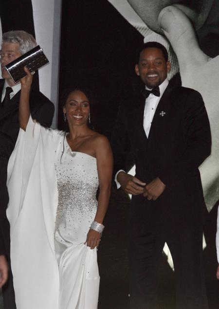 Will Smith and Jada Pinkett Smith at the Vanity Fair Oscar party