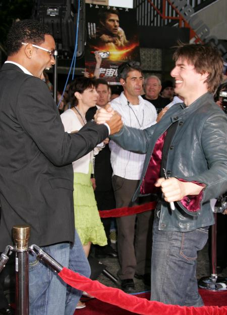 Will Smith and Tom Cruise at the War of the Worlds premiere