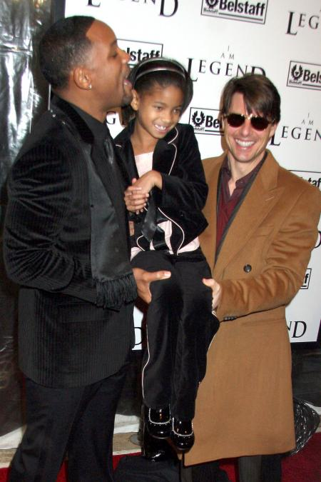Will Smith, along with his daughter Willow, and Tom Cruise