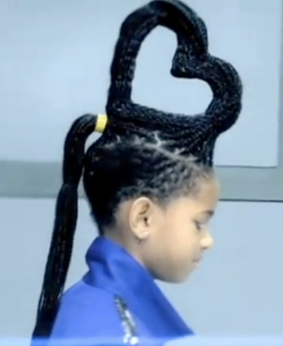 Willow Smith's Whip My Hair video hairstyle